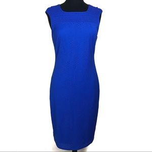 Marc New York Andrew Marc Blue Dress Stretch